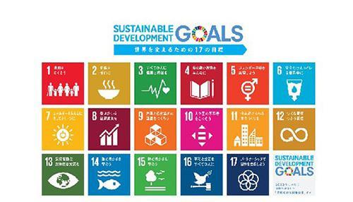 SDGsのロゴ(国連広報センター提供)
