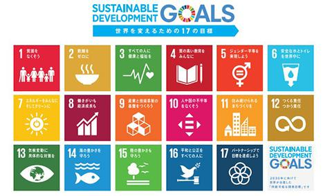 SDGsの17のゴール(目標)(提供・国連広報センター)