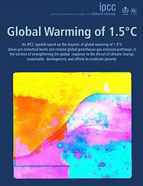 IPCC1.5度特別報告書の表紙(提供・IPCC)