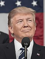 画像2 米ホワイトハウスホームページに掲載されているトランプ大統領(米ホワイトハウス提供)