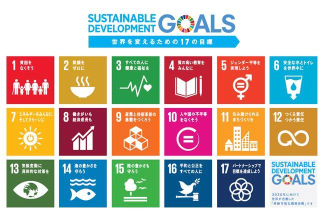 図1 SDGsの17の目標(出典:国際連合広報センター)