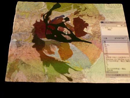 GISと連動した雲仙普賢岳周辺の模型