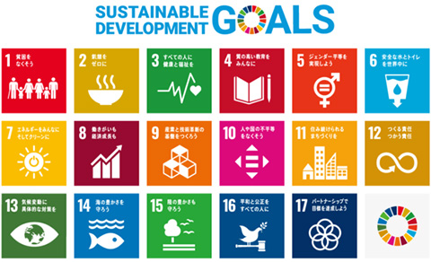 SDGsの17のゴール(国連広報センター提供)