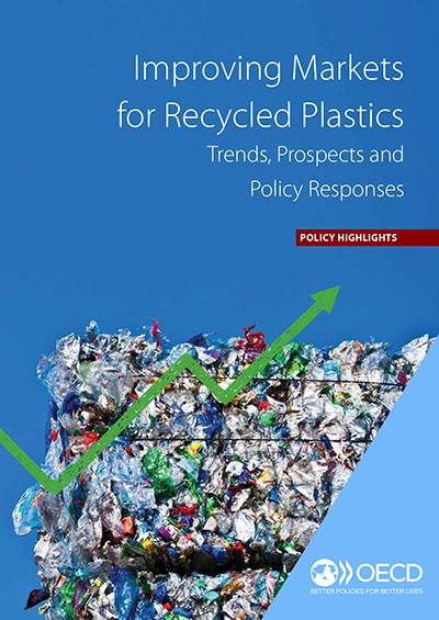 OECD報告書「Improving Markets for Recycled Plastics」の表紙(提供・OECD)