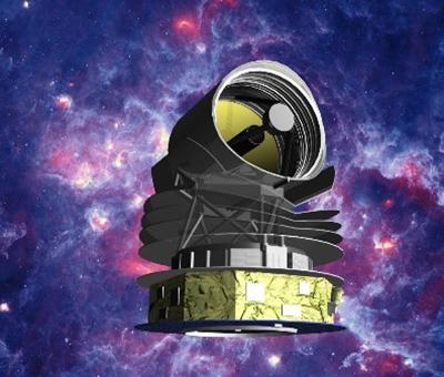 赤外線天文衛星「スピカ」の想像図(JAXA、スピカチーム、名古屋大学提供)