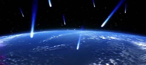 隕石の海洋衝突 想像図
