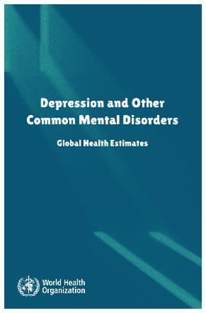図 WHOのうつ病などに関する報告書の表紙(WHO提供)