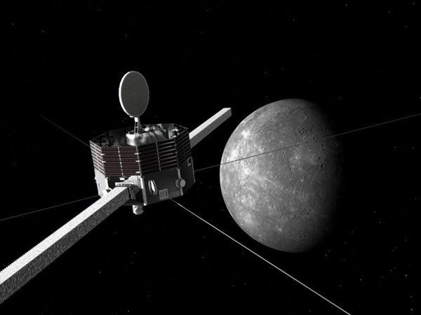 水星を探査する「みお」の想像図(JAXA提供)