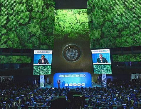 ニューヨークの国連本部で開かれた気候行動サミット(国連提供)