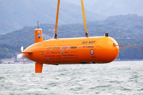 写真2 競技で使われた自律型無人潜水機(「チーム・クロシオ」提供)