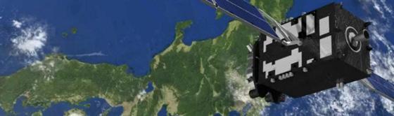 「みちびき」が日本上空を飛行している想像図((提供・内閣府宇宙開発戦略推進事務局)
