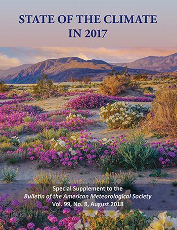 画像2 「STATE OF THE CLIMATE IN 2017」と題したNOAAの報告書の表紙(NOAA提供)