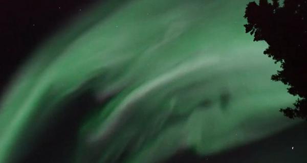 画像1 国立極地研究所などが撮影した最速のオーロラの明滅現象(公開された動画から/Ayumi Y .Bakken氏撮影・国立極地研究所など研究グループ提供)