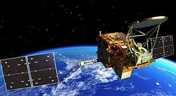 画像2 水循環変動観測衛星「しずく」(GCOM-W)の想像図(提供・NIPR/JAXA)