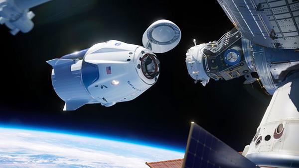 クルードラゴンの想像図(NASA提供)