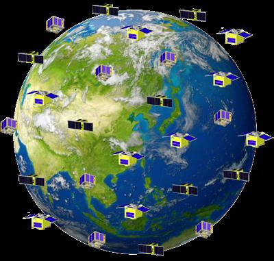 超小型衛星で目指す連続監視のイメージ図(高橋教授提供)