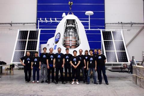 写真1 PoGO+の気球実験で観測機器を搭載したゴンドラ