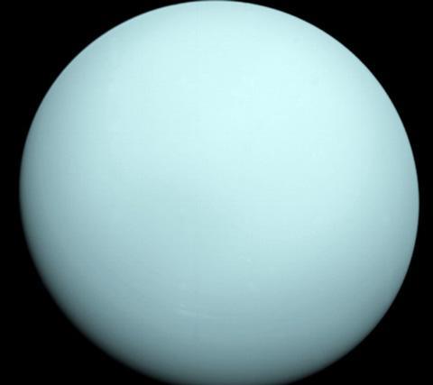 ボイジャー2号が撮影した天王星(NASA提供)