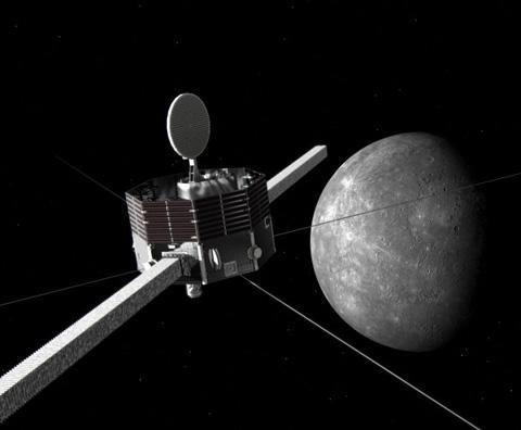 画像 水星に近づく「みお」の想像図 (JAXA提供)
