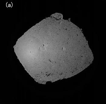 画像5 9月12日に「はやぶさ2」搭載のカメラで撮影された「りゅうぐう」。635メートル離れたところから撮影(JAXA提供)