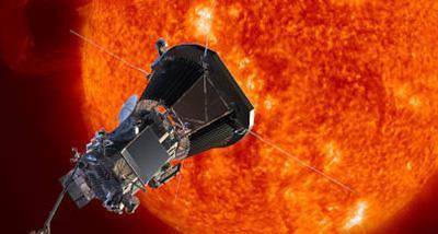 画像 太陽に接近する太陽探査機「パーカー・ソーラー・プローブ」の想像図(提供・NASA)