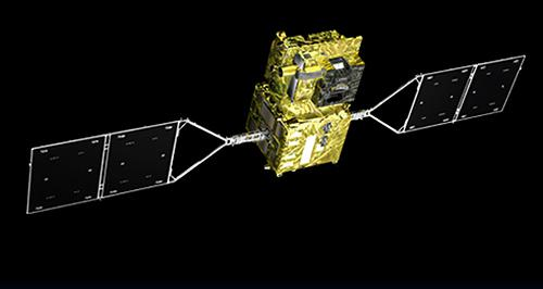 画像 観測衛星「しきさい」の宇宙での想像図(提供・JAXA)