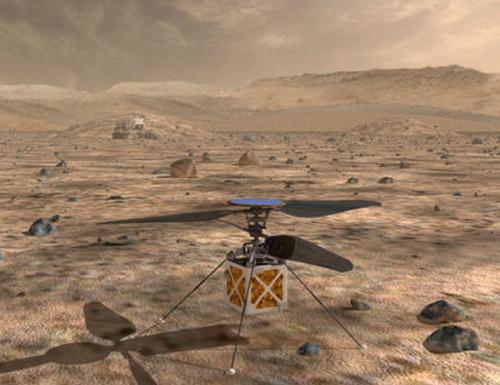 画像 マーズヘリコプターの想像図(提供・NASA/JPL-Caltech)