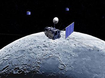 月周回衛星「かぐや」の想像図(JAXA提供)