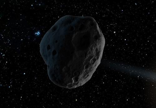 想像図 木星の軌道近くを通過する小天体「2016WF9」(提供・NASA/JPL-Caltech)