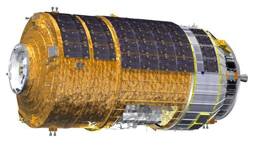 図「こうのとり」6号機の外観図 (JAXA提供)