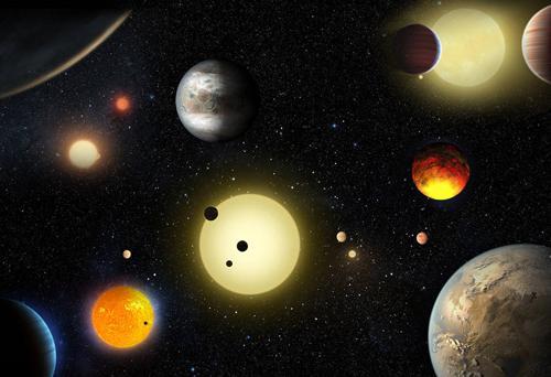 図 太陽系外の惑星のイメージ図(提供・ NASA/W.Stenzel)