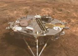 火星に着陸したフェニックスの想像図