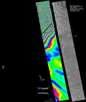 地震前と地震後を比較した画像
