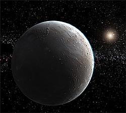 """太陽系外縁部に存在すると見られる""""惑星""""の想像図"""