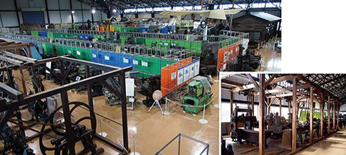 写真2 日本工業大学が所蔵する歴史的工作機械群(提供・日本工業大学)