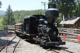 木曾森林鉄道(長野県)。ボールドウィン蒸気機関車