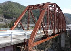 木曾森林鉄道(長野県)。鬼渕鉄橋