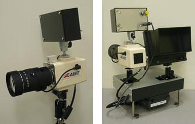 今回開発した赤外線カラー暗視カメラと赤外線照射装置