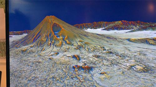 富士山周辺の3D地形映像