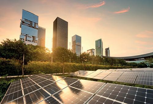 写真1 都市での太陽光発電のイメージ写真(IRENA提供/IRENA報告書から)
