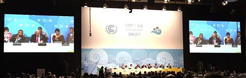 写真2 激しい議論が続いたCOP23での一場面(提供・国連COP23事務局)