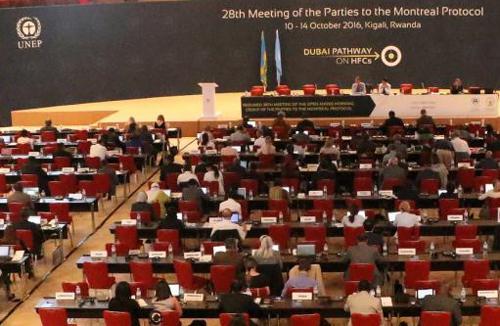 写真 ルワンダで開かれたモントリオール議定書の第28回締約国会議(UNEP提供)