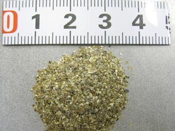 福島県内に偏在する粘土鉱物のバーミキュライト