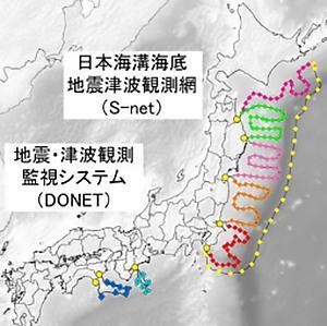 画像1 鉄道の地震防災対策に活用される海底地震津波観測網(提供・防災科学技術研究所)