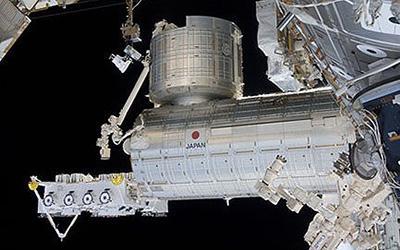 国際宇宙ステーション(ISS)の日本実験棟「きぼう」(JAXA/NASA提供)