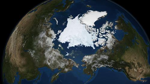 観測史上2番目に小さくなった北極海の氷