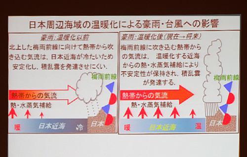 写真4 中村尚さんが緊急報告で説明したパワーポイントのうちの一つ