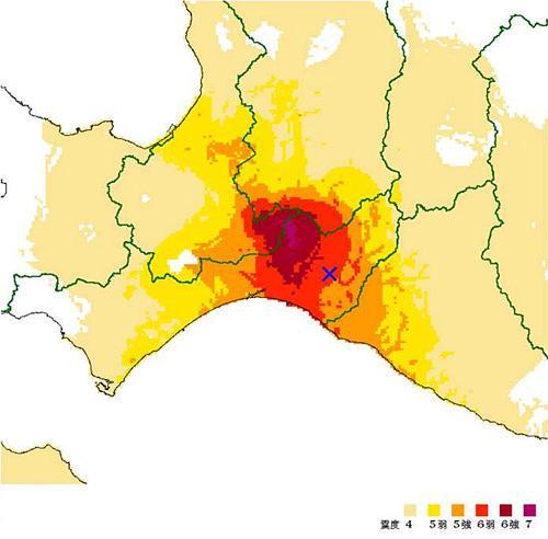 画像2 北海道・胆振地方中東部の地震 推計震度分布図(気象庁提供)