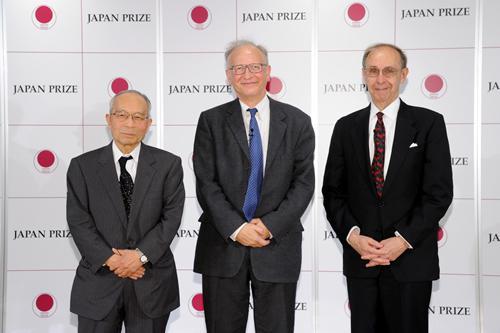 日本国際賞の受賞者に決まった(左から)高橋裕、アラン・フィッシャー、セオドア・フリードマンの各氏