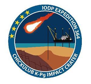 図1 国際深海科学掘削計画の第364次研究航海で使われたロゴ。(国際深海科学掘削計画のホームページより)